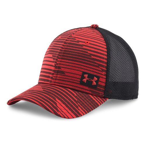 Mens Under Armour Blitzing Trucker Cap Headwear - Red