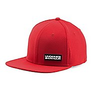 Mens Under Armour Embossed Flat Brim Stretch Fit Cap Headwear