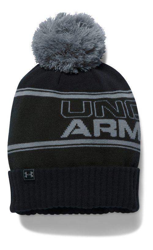 Mens Under Armour Pom Beanie Headwear - Army Green/Black