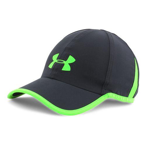 Mens Under Armour Shadow Cap 3.0 Headwear - Black/Hyper Green