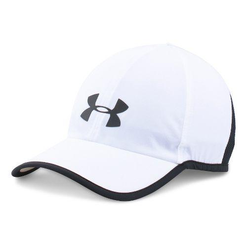 Mens Under Armour Shadow Cap 3.0 Headwear - White/Black
