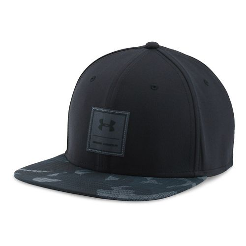 Mens Under Armour Squared Up Cap Headwear - Black/Graphite M/L