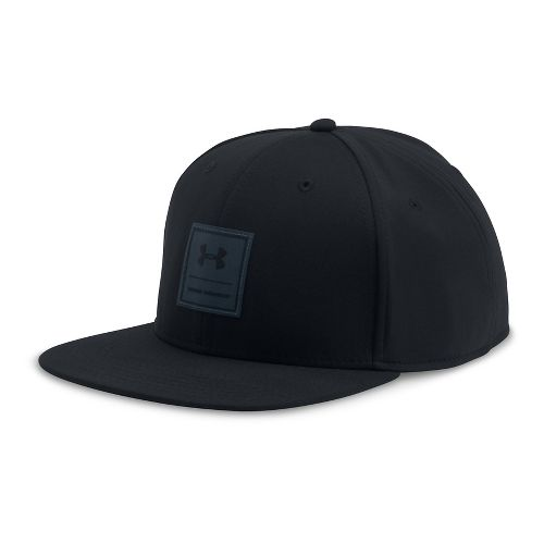 Mens Under Armour Squared Up Cap Headwear - Black/Stealth Grey L/XL