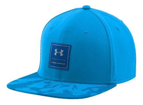 Mens Under Armour Squared Up Cap Headwear - Brilliant Blue/Steel M/L