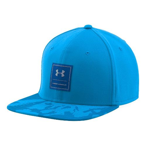 Mens Under Armour Squared Up Cap Headwear - Brilliant Blue/Steel L/XL