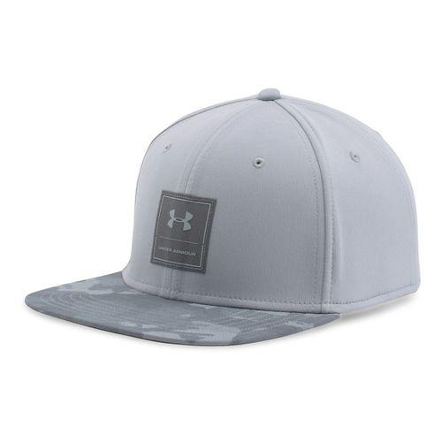 Mens Under Armour Squared Up Cap Headwear - Grey/White XL/XXL