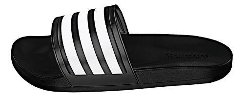 Womens adidas Adilette CF Ultra Stripes Sandals Shoe - Black/White 8