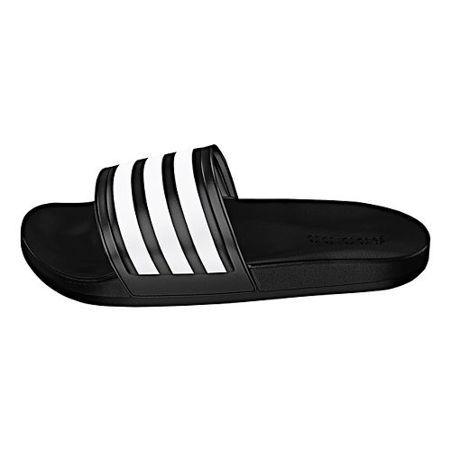 Womens adidas Adilette CF Ultra Stripes Sandals Shoe - Black/White 5