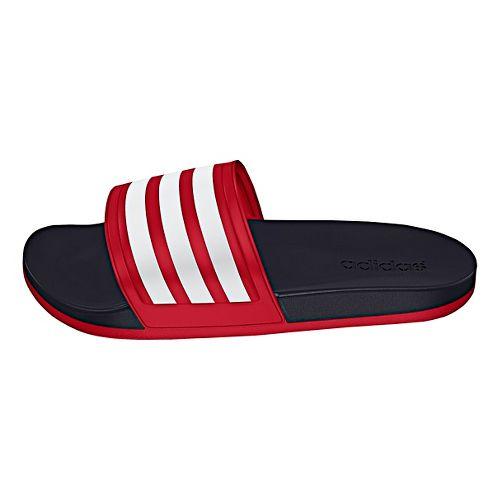 Womens adidas Adilette CF Ultra Stripes Sandals Shoe - Scarlet/White/Black 7