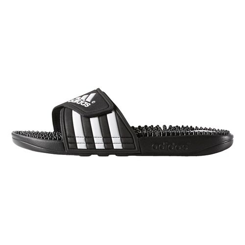 Womens adidas Adissage Sandals Shoe - Black/White 5