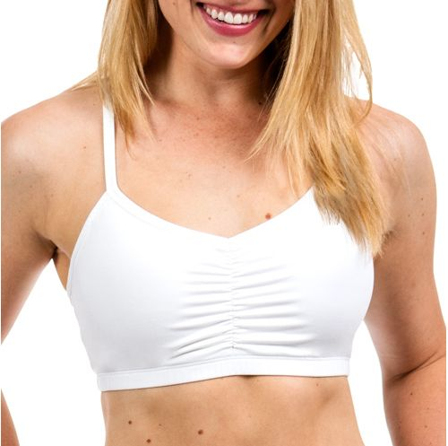 Womens Handful Adjustable Sports Bra - White L