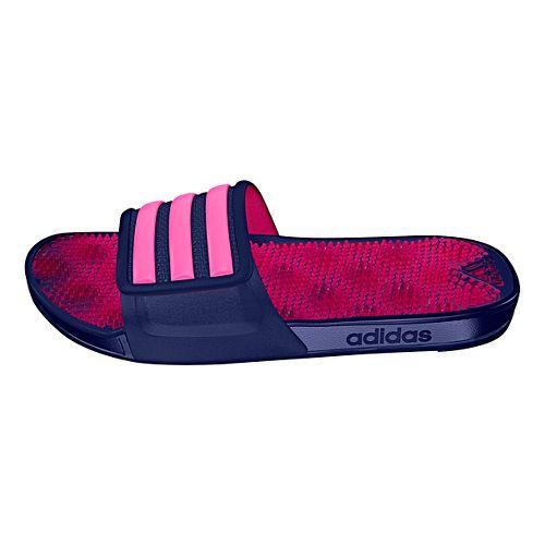 Womens adidas Adissage 2.0 Stripes Sandals Shoe - Ink/Shock Pink 8