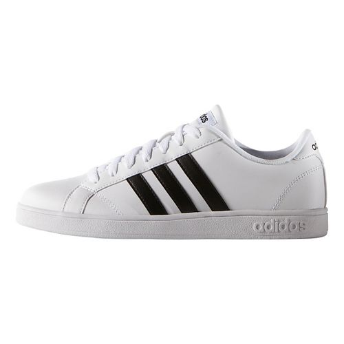 Womens adidas Baseline Casual Shoe - White/Black 10.5