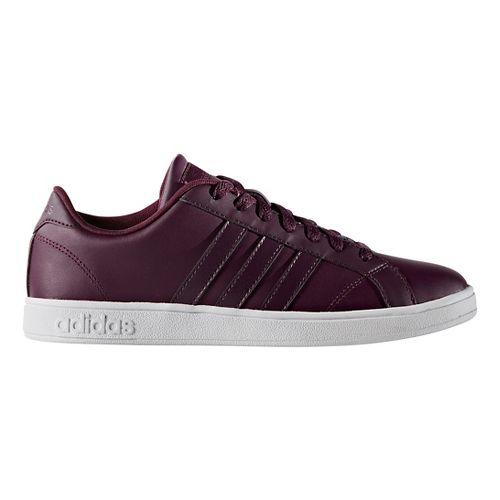 Womens adidas Baseline Casual Shoe - Merlot/White 6.5