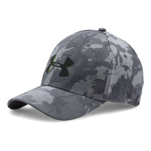 Mens Under Armour Storm Closer Headwear - Graphite/Hyper Green L/XL