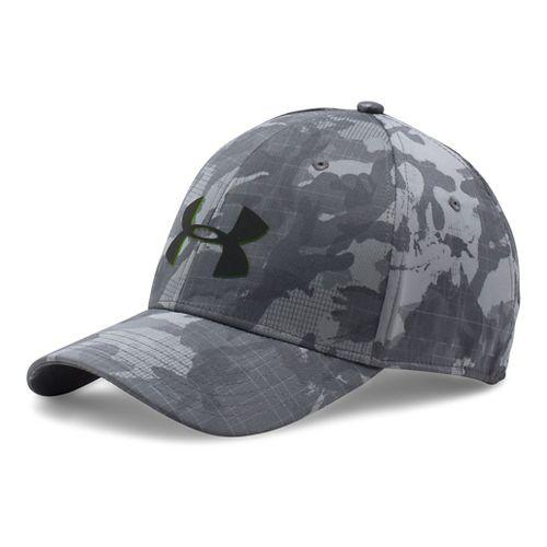 Mens Under Armour Storm Closer Headwear - Graphite/Hyper Green XL/XXL