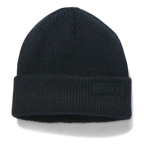 Mens Under Armour Wool Beanie Headwear - Black