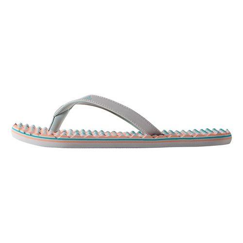 Womens adidas Eezay Dots Sandals Shoe - Grey/Green 6