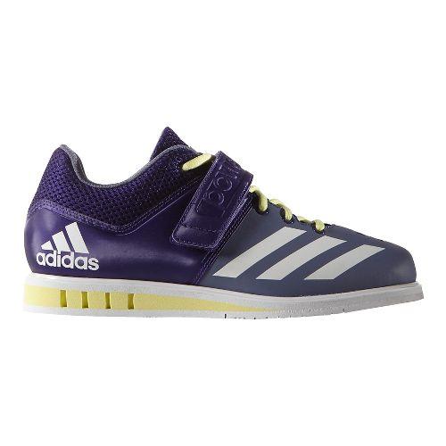 Womens adidas Powerlift 3 Cross Training Shoe - Purple/White/Yellow 7.5