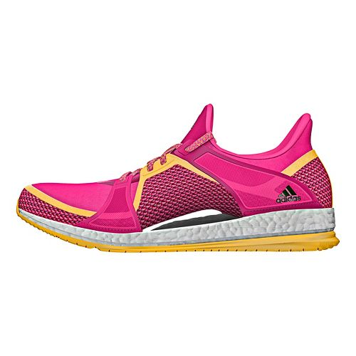 Womens adidas Pure Boost X TR Cross Training Shoe - Pink/Gold/Silver 7