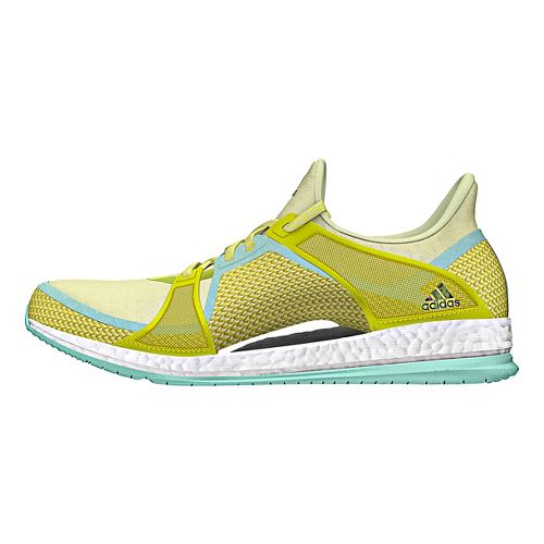 Womens adidas Pure Boost X TR Cross Training Shoe - Yellow/Green 9
