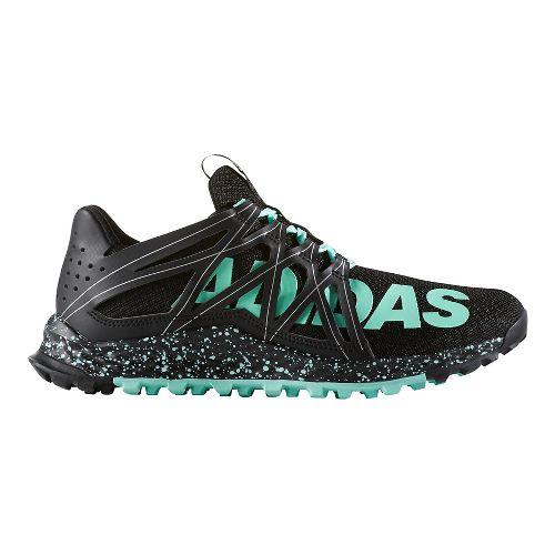 Womens adidas Vigor Bounce Trail Running Shoe - Black/Easy Green 7.5