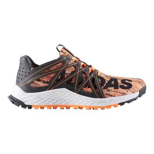 Womens adidas Vigor Bounce Trail Running Shoe - Dark Grey/Orange 10.5