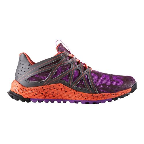 Womens adidas Vigor Bounce Trail Running Shoe - Purple/Dark Grey 10