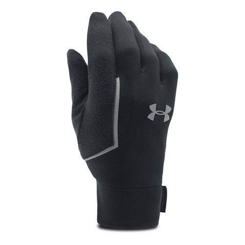 Mens Under Armour No Breaks Armour Liner Handwear - Black/Black L