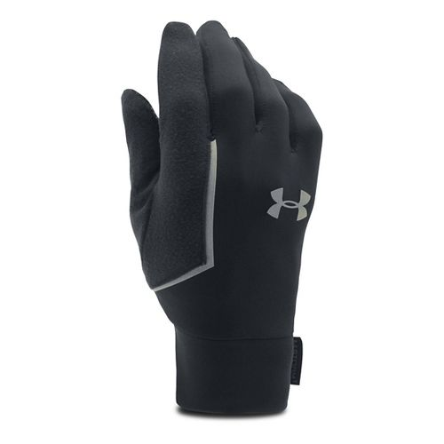 Mens Under Armour No Breaks Armour Liner Handwear - Black/Black M