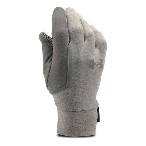 Mens Under Armour No Breaks Armour Liner Handwear - Grey Heather/Black M