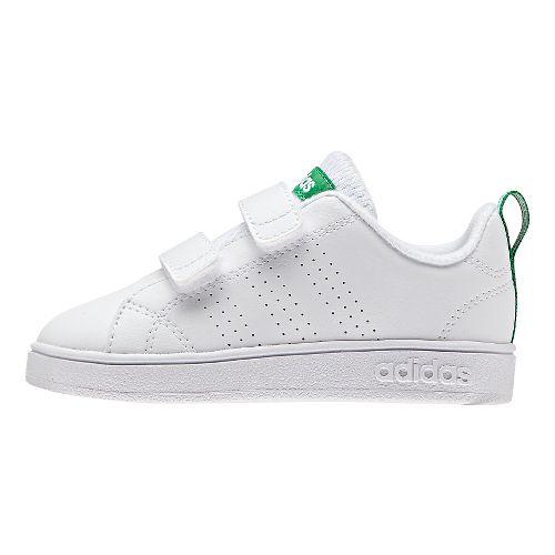 Kids adidas Advantage Clean VS Casual Shoe - White/Green 8.5C