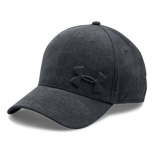 Mens Under Armour Tonal Chambray Low Crown Cap Headwear - Black/Grey XL/XXL