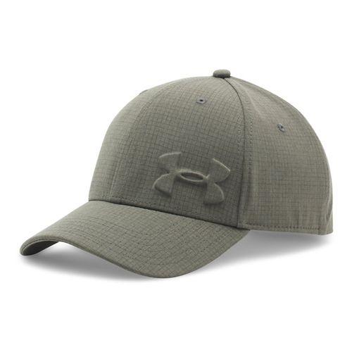 Mens Under Armour Tonal Chambray Low Crown Cap Headwear - Rifle Green/Black L/XL