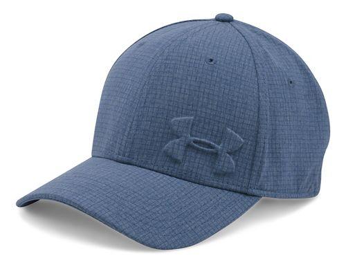 Mens Under Armour Tonal Chambray Low Crown Cap Headwear - Midnight Navy L/XL