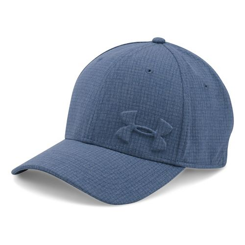 Mens Under Armour Tonal Chambray Low Crown Cap Headwear - Midnight Navy M/L