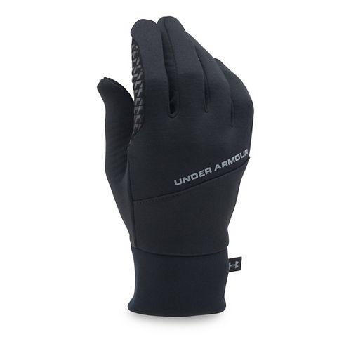 Mens Under Armour Stretch Glove Handwear - Black/Black XL