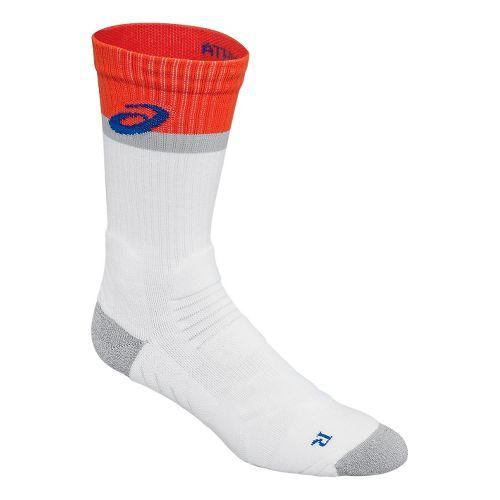ASICS Athlete Crew 3 Pack Socks - Cone Orange M