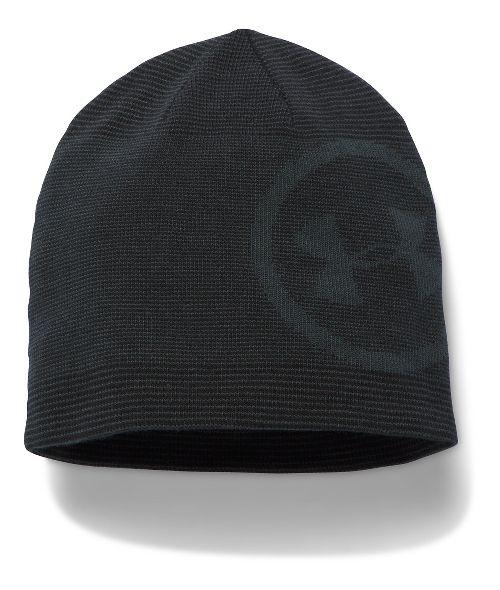 Mens Under Armour Classic Billboard Beanie Headwear - Black/Graphite
