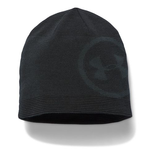 Mens Under Armour Classic Billboard Beanie Headwear - Black/Graphite