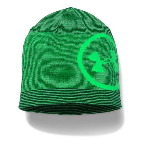 Mens Under Armour Classic Billboard Beanie Headwear - Black/Green
