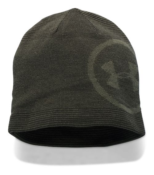 Mens Under Armour Classic Billboard Beanie Headwear - Army Green/Rough