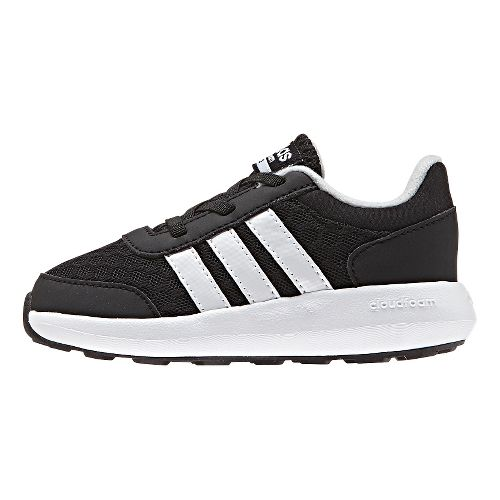 Kids adidas Cloudfoam Race Casual Shoe - Black/White 5C