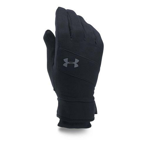 Mens Under Armour Elements Glove Handwear - Black/Black L