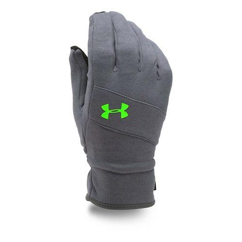 Mens Under Armour Elements Glove Handwear - Grey/Hyper Green M