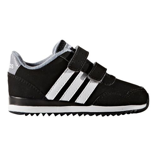 adidas V Jog Casual Shoe - Black/White 7.5C
