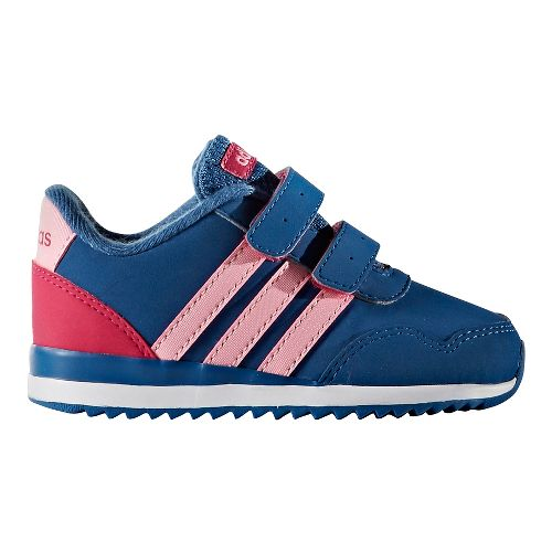 adidas V Jog Casual Shoe - Blue/Pink 8C