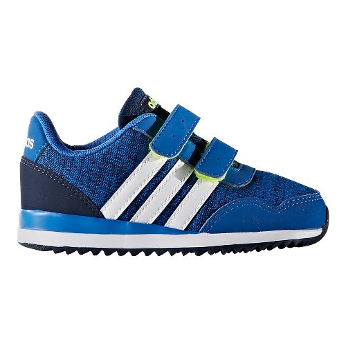 adidas V Jog Casual Shoe - Blue/White/Navy 6.5C