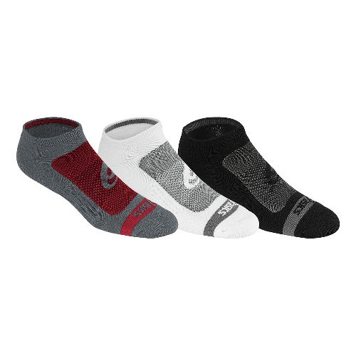 ASICS Contend No Show 9 Pack Socks - True Red XL