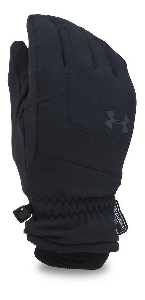 Mens Under Armour Gore Windstopper Glove Handwear - Black/Black M
